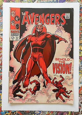 AVENGERS #57 - OCT 1968 - 1st VISION APPEARANCE! - VFN- (7.5) CENTS COPY!