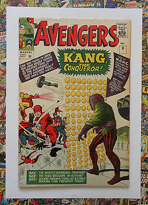 AVENGERS #8 - SEPT 1964 - 1st KANG THE CONQUEROR! - FN/VFN (7.0) PENCE COPY!