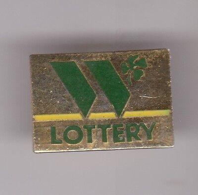 WASHINGTON LOTTERY with four leaf clover Pin