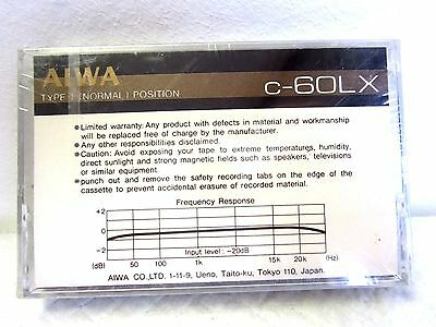 CASSETTE TAPE BLANK SEALED - 1x (one) AIWA c-60LX - [1979?] VERY RARE