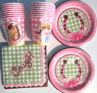 COWGIRL - Birthday Party Supplies Set Pack w/ Plates,Napkins,Cups & Balloons