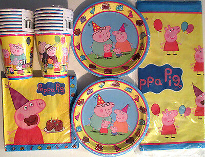 PEPPA PIG - Birthday Party Supply Supply Kit Set 16 w/ Balloons