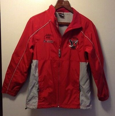 PITTSBURGH, PA VIPERS NIKE BAUER HOCKEY ZIP RED NYLON LINED JACKET WARM UP Boy L