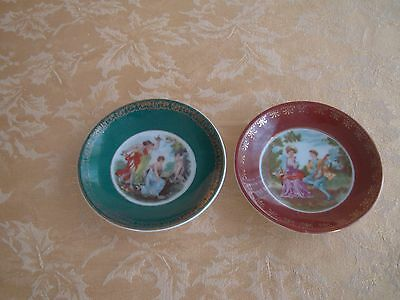 Two Occupied Japan Small Plates ~ Ring/Trinket or Hanging Plates