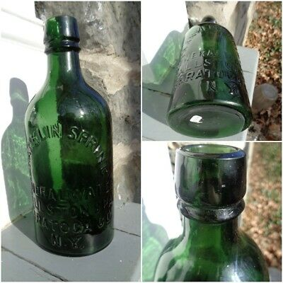 Saratoga Antique Bottle - Franklin Spring Mineral Water - Ballston Spa