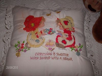 One BETSY CLARK occasional pillow,hand embroidered
