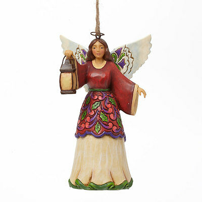 Jim Shore Heartwood Creek Angel With Lantern Christmas Ornament 4042974