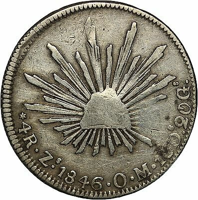 Mexico 4 Reales, 1846 Zs  OM