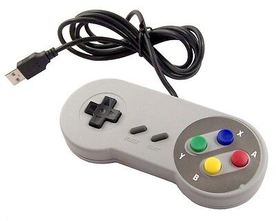 Manette USB pour PC style vintage SNES,Super Nintendo game controller for PC