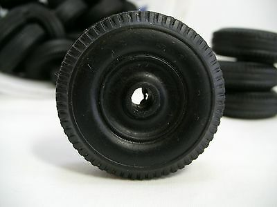 VINTAGE HARD RUBBER TIRE WHEEL REPLACEMENTS FOR Hubley, Tonka, Minnitoys, etc.