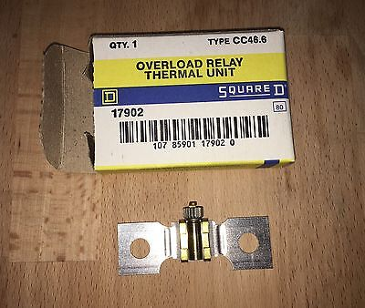 Square D CC 46.4 Overload Relay Thermal Unit - New