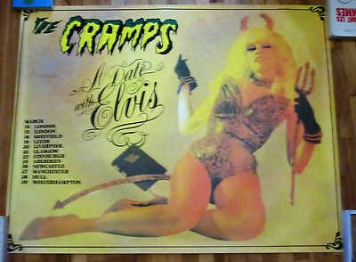 The Cramps A Date With Elvis Vintage Poster 1986