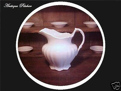 19th c Antique American White Ironstone Porcelain PITCHER Knowles Taylor Knowles