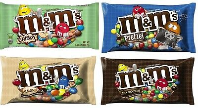New M&M's Milk Chocolate Candy Mix N Match 9 - 11 Oz Bags Free Worldwide Ship