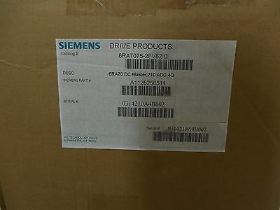 Siemens 6RA7075-2FV62-0 BASE DRIVE, 4Q, US RATED 210AMPS, 460V (6RA70752FV620)