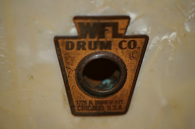 Vintage WFL Drum Co Ludwig Marching Snare Drum White Pearl Percussion Instrument