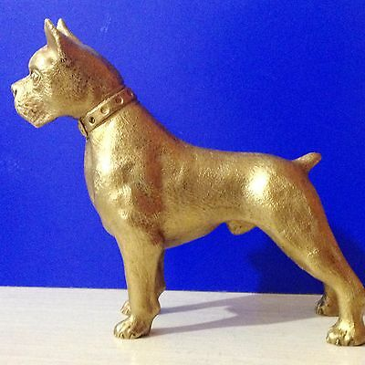 Boxer bronze figurine dog exclusive from Russia  for the collection dog in rack