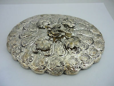 Stunning Vintage Egyptian Hallmarked Solid Silver Oval Shaped Hand Mirror