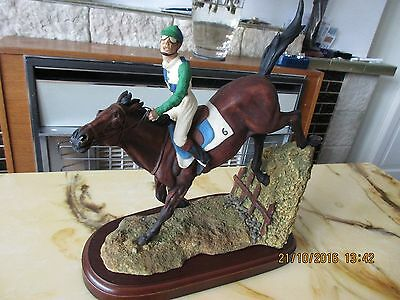 Cloudside Studios Racing Horse With Rider