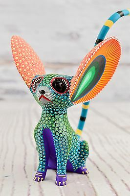 A1178 Cute Fine Mouse Alebrije Oaxacan Wood Carving Painting Handcrafted Folk Ar