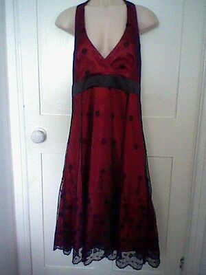 Red & Black dress, halterneck, size 14, from Bay - ideal for special occasions