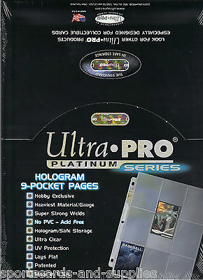 200 Ultra-Pro Holo Platinum 9 Card Pocket Pages Sheets 209D