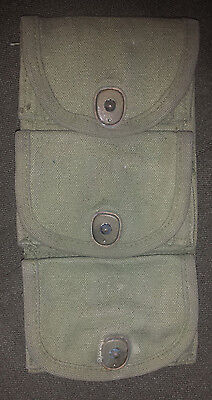 Wwi 45 Caliber Half Moon Clip Pouch With Great Markings