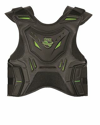 Icon Field Armor Stryker Vest Black/Green Sportbike Stunt Chest Back Protection