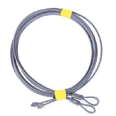 """1/8"""" CABLE ASSY PAIR FOR 2.5 - 3.65m UNIVERSAL SECTIONAL / PANEL GARAGE DOOR"""