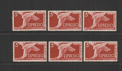 Italy Italia ~ 1945 Express Letter Stamps 5L (Mint Mnh)