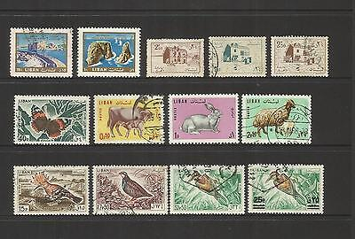 Lebanon ~ Small Mid-Modern Collection On Stock Pages