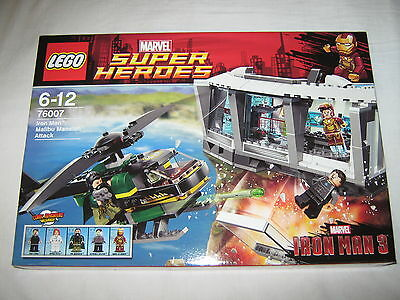 LEGO SUPER HEROES 76007 IRON MAN MALIBU MANSION ATTACK new and sealed