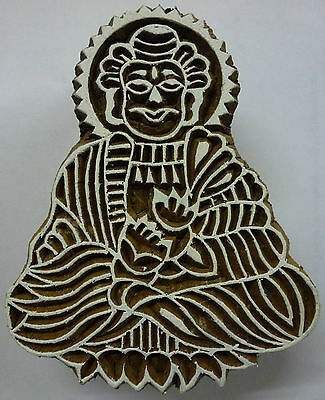 Buddha Shaped 9.5cm Indian Hand Carved Wooden Printing Block