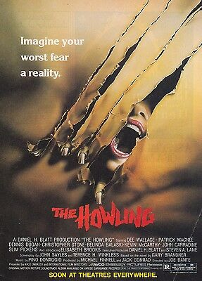 THE HOWLING Dee Wallace 1981 Magazine Movie Print Ad