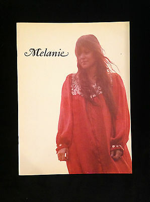 Melanie Safka Original Concert Tour Program-Brand New Key-1971-First Printing