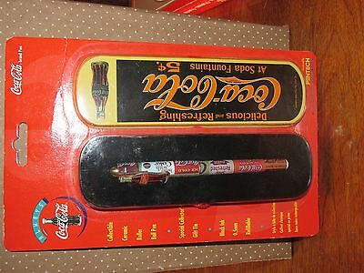 New in Package!! Coca-Cola Roller Ball Pen * Tin Case * FREE SHIPPING!!