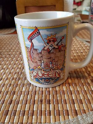 Mary Engelbreit The Queen of Everything Mug Cup Coffee Tea Black White Checkered