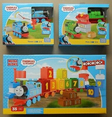 MEGA BLOKS THOMAS & FRIENDS 1 2 3 Count with Thomas Building blocks NEW