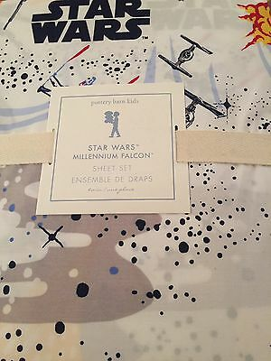 Brand New Pottery Barn Kids Star Wars Millennium Falcon Sheet Set *QUEEN*