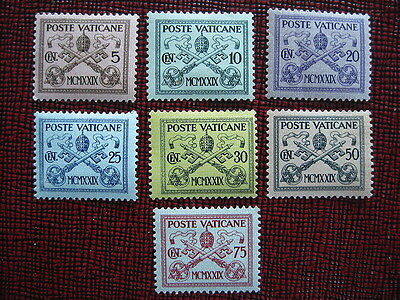 1929 Papal Tiara+St Peters Keys MH Stamps from Vatican