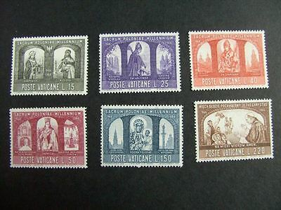 1966 Christianisation of Poland MNH Stamps from Vatican
