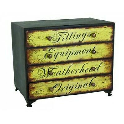 Vintage Style 4 Drawer Cabinet with Labels