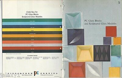 1961 PITTSBURGH CORNING Glass Blocks Sculptured Modules Mid Century Vtg Catalog