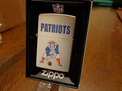 "New England Patriots Throwback Zippo Lighter Vintage Design Mint In Box ""pat"""