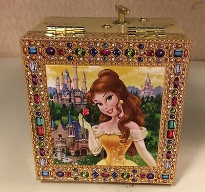 Disney Parks Beauty and the Beast Princess Belle Jewelry Music Box NEW WITH TAG