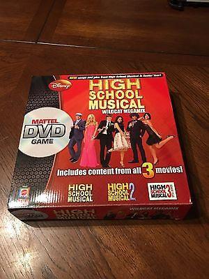 High School Musical ~ DVD Board Game~ by Mattel ~ content from ALL 3 movies