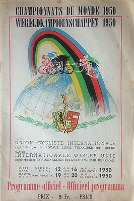 1950 Uci Road World Cycling Championships Roadbook Programme Briek Schotte