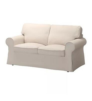 Ikea Cover for Ektorp 2-seat Loveseat Couch, Lofallet beige new fabric slipcover