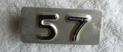 1957 Iowa License Plate Tab for 1956 IA License Plate