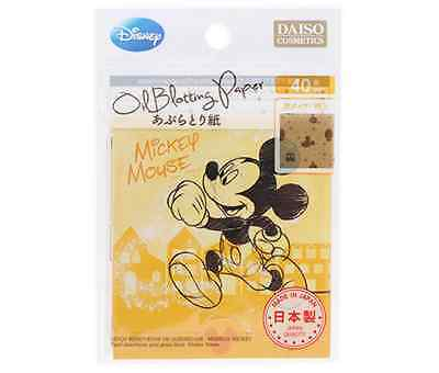 Daiso Japan Disney Mickey Mouse Oil Blotting Paper 40 Sheets Made In Japan
